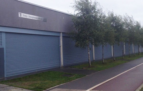 Commercial Roller Shutters securing a club house for a Dublin Football Club