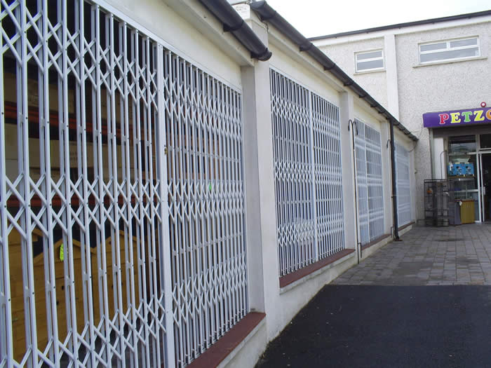 Trellidor Security Gate protecting a shop front & Security Grilles -Trellidor Security Folding Grilles : Ace Engineering pezcame.com