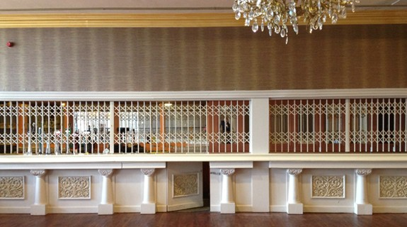 Security Grilles securing a hotel bar