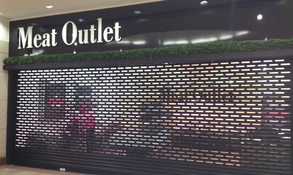 Roller Shutter securing a retail unit